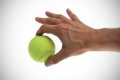 Pelota de tenis disponible Fotografía de archivo