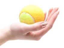 Pelota de tenis disponible Imágenes de archivo libres de regalías