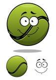 Pelota de tenis feliz de la historieta Imágenes de archivo libres de regalías