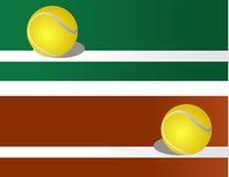 Pelota de tenis, hacia fuera Fotografía de archivo