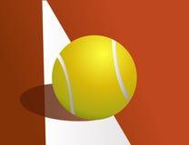 Pelota de tenis, hacia fuera Fotos de archivo