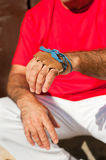Pelota player´s hand Royalty Free Stock Images