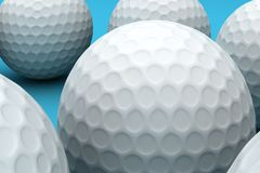 Pelotas de golf Fotos de archivo libres de regalías
