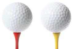 Pelotas de golf aisladas Fotos de archivo