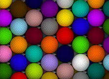 Pelotas de golf coloridas Fotografía de archivo libre de regalías