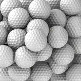 Pelotas de golf en fondo Imágenes de archivo libres de regalías