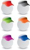 Pelotas de golf miniatura stock de ilustración