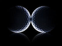 Pelotas de golf planetarias foto de archivo libre de regalías