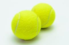 Pelotas de tenis aisladas Imagen de archivo libre de regalías