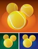 Pelotas de tenis en la tierra ilustración del vector