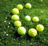 Pelotas de tenis número seis Foto de archivo libre de regalías