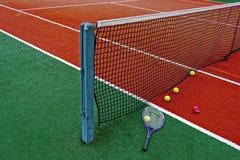 Pelotas de tenis y Racket-7 Fotografía de archivo libre de regalías