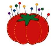 pelote à épingles de fraise de +EPS dans des sons de bijou Photo libre de droits