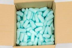 Pelotillas azules de la espuma de poliestireno Fotos de archivo libres de regalías