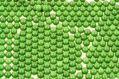 Pelotillas verdes de Airsoft Foto de archivo