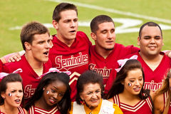 Pelotón Cheerleading del Seminole Fotografía de archivo