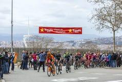 Peloton в Барселоне - путешествуйте de Catalunya 2016 Стоковая Фотография RF