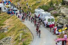 Peloton в горах - Тур-де-Франс 2015 Стоковые Изображения