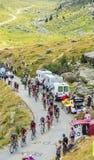 Peloton в горах - Тур-де-Франс 2015 Стоковая Фотография RF