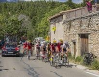 Peloton на горе Венту - Тур-де-Франс 2016 Стоковое Изображение RF