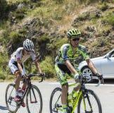 Peloton на d'Aspin Col - Тур-де-Франс 2015 Стоковые Фото