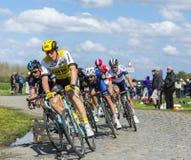 Peloton - Париж Roubaix 2016 Стоковые Изображения