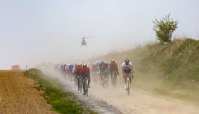 Peloton - Париж-Roubaix 2019 стоковое фото