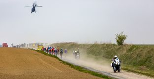 Peloton - Париж-Roubaix 2019 стоковая фотография rf