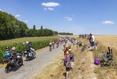 Peloton - Тур-де-Франс 2018 стоковое изображение rf