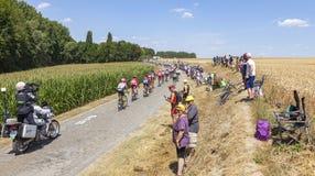 Peloton - Тур-де-Франс 2018 стоковое фото