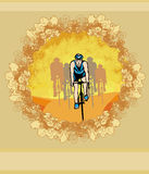 Peloton - abstract retro card Royalty Free Stock Photo