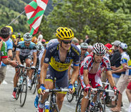 The Peloton on Alpe D'Huez Stock Photography