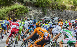 The Peloton on Alpe D'Huez Stock Image