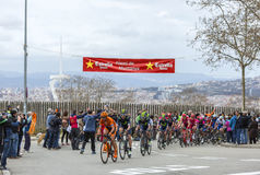 The Peloton in Barcelona - Tour de Catalunya 2016 Royalty Free Stock Photography