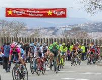 Peloton in Barcelona - Tour DE Catalunya 2016 Stock Foto