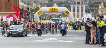 The Peloton in Barcelona - Tour de Catalunya 2016 Stock Image