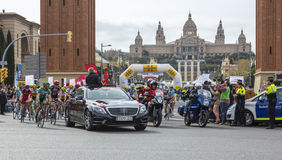 The Peloton in Barcelona - Tour de Catalunya 2016 Royalty Free Stock Images