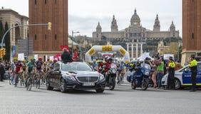 The Peloton in Barcelona - Tour de Catalunya 2016 Royalty Free Stock Images