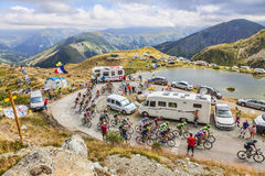 Peloton in Bergen - Ronde van Frankrijk 2015 Royalty-vrije Stock Afbeelding