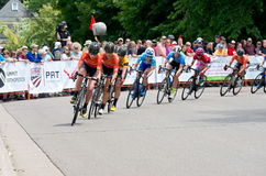 Peloton Chases Leaders at Stillwater Stock Photography