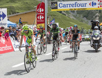 The Peloton on Col du Lautaret Stock Photo