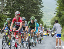 The Peloton on Col du Tourmalet - Tour de France 2014 Stock Image