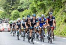 The Peloton on Col du Tourmalet - Tour de France 2014 Royalty Free Stock Photos