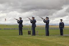 Peloton commémoratif de fusil Photos stock
