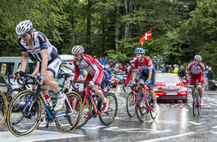 The Peloton in Full Effort Stock Images