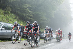 The Peloton in a Misty Day - Tour de France 2014 Royalty Free Stock Photos