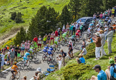 The Peloton in Mountains Stock Photo