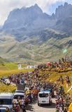 The Peloton in Mountains - Tour de France 2016 Stock Photo