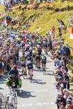 The Peloton in Mountains - Tour de France 2016 Royalty Free Stock Photo