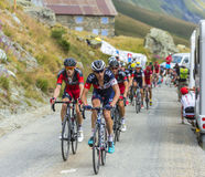 The Peloton in Mountains - Tour de France 2015 Royalty Free Stock Photos